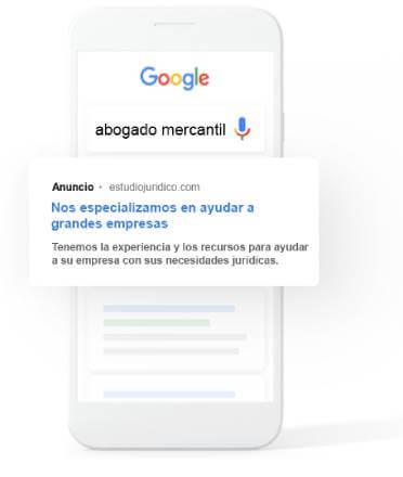 Anuncio en Google Ads